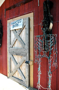 Entrance to the haunted Barn